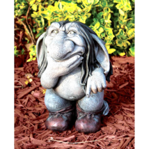 Pondering Sylvester, the Cynical Gnome Troll Statue - $70.88