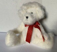 Vintage 1988-2005 The Boyd Collection White Plush Bear with Red Santa Ha... - $16.69