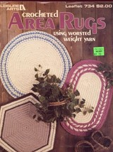 Area Rugs 3 Designs Crochet PATTERN/INSTRUCTIONS LA734 Round Oval Hexagon - $5.37