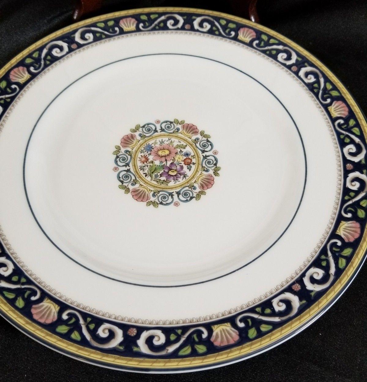 "Wedgwood Runnymede Blue Salad Plates 8.25"" (2) image 2"