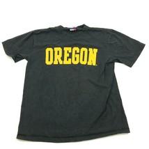 Oregon Canards Chemise Taille Grand LARGEUR Noir Jaune Graphisme NCAA Ample Tee - $15.02