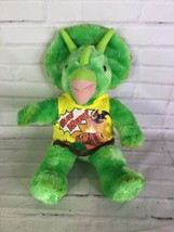BABW Build a Bear Workshop Green Dinosaur Triceratops Stuffed Animal Plu... - $34.64