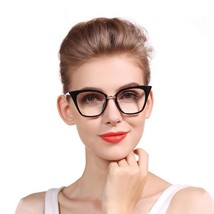 Cat Eye Reading Glasses Lady Oversized Women Clear Glasses Spring Half 1... - $20.58