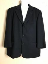 Hugo Boss Men Size 44R Black Virgin Wool Suit Jacket Einstein Usa - $36.67