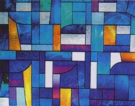 """Abstract Stained Glass Decorative Window Film 36"""" Wide x 6.5 Ft Long - $55.10"""