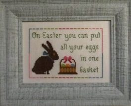 Basket of Eggs spring easter cross stitch chart Stitches Through Time  - $10.80