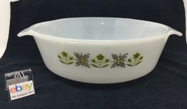 "Vintage Fire King ""Flower Garden"" Casserole Dish - #437 1 1/2 Qt.  - Nice! - $10.99"