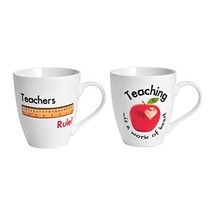 Pfaltzgraff Everyday Mug, Teachers Rule and Teaching, 18-Ounce, Set Of 2... - $36.73