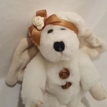 """Angel Teddy Bear 1998 Stuffed Animal Plush 6"""" Cream Wings Boyds - $9.99"""