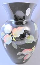 Ltd Ed Fenton Black Paradise Vase Shelley and George Fenton Signed S Hopkins - $85.49