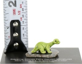 Hagen Renaker Miniature Dinosaur Diplodocus Baby on Base Stepping Stones #2726 image 2
