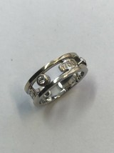 Tiffany & Co. 1837, 18K White Gold Dimond Ring in Size 7.5. ! - $742.50