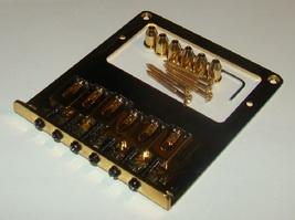 Six Saddle Humbucker Bridge for Fender® Telecaster®, Gold Finish - $39.95