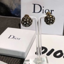 Authentic Christian Dior 2019 CRYSTAL STAR BEADS Double Pearl Tribales Earrings image 9