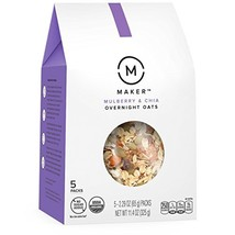 Maker Overnight Oats, Mulberry & Chia, Organic, No Sugar Added, 5 Single... - €9,97 EUR