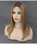 """8.5""""x9""""- Large Size Women Toupees Human Hair Mono Topper with highlights... - $165.60"""