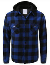 Shaka Wear Men's Casual Flannel Button Up Plaid Fleece Lightweight Jacket XL image 4