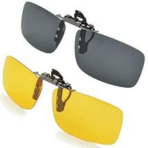 Splaks Clip-on Sunglasses, Unisex Polarized Frameless Rectangle Lens Fli... - $13.02