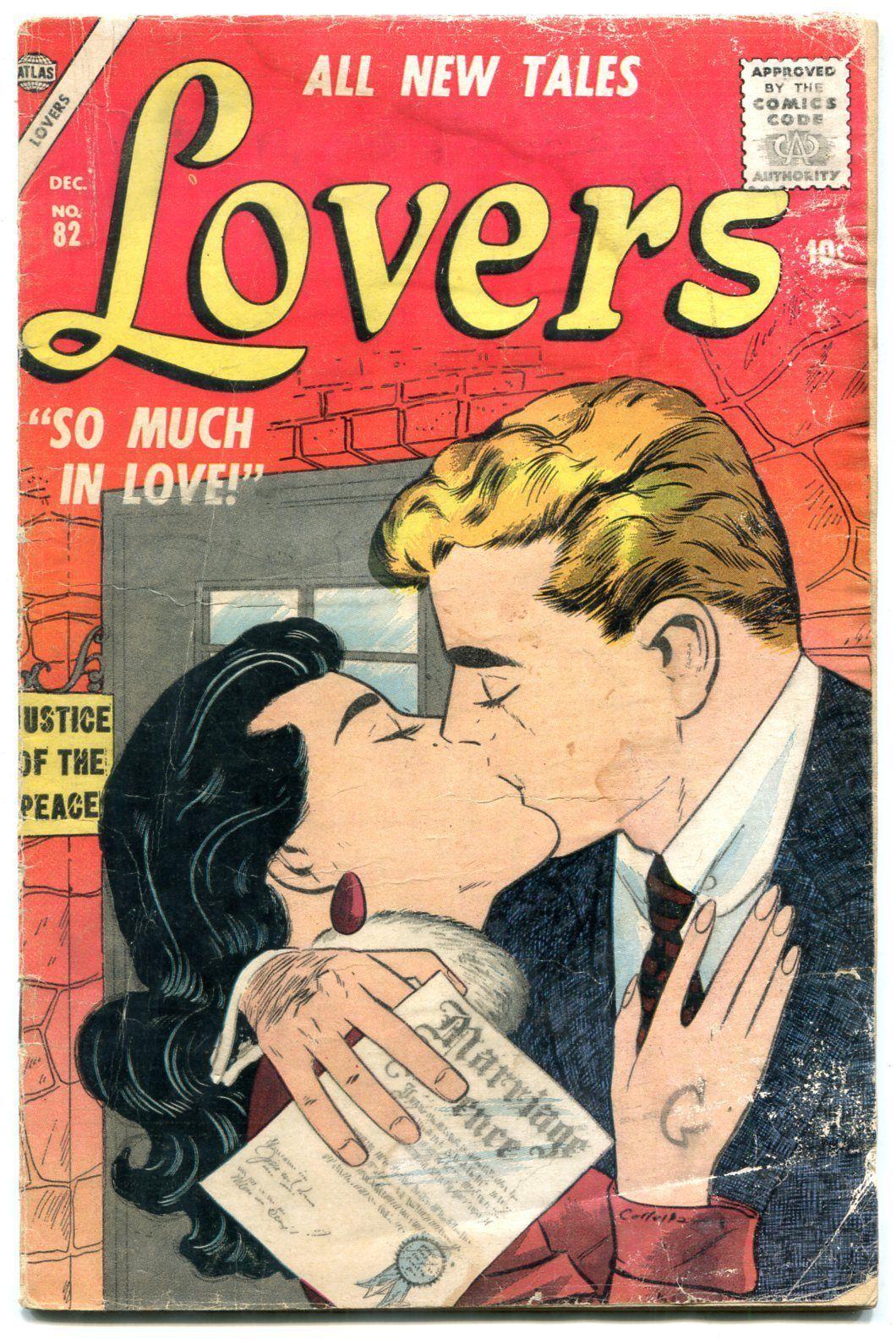Lovers #82 1956- Atlas Romance Comic -Career Girl- Colletta cover G-