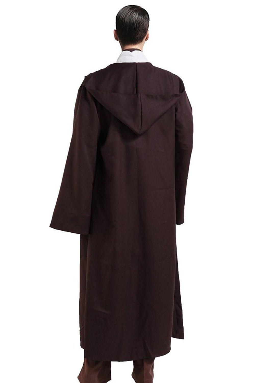 Cosplay Star Wars Jedi Robe Costume Obi-Wan Kenobi Halloween Outfit