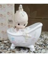 1985 Precious Moments Figurine 100277 He Cleansed My Soul Bubble Bath Ho... - $20.00