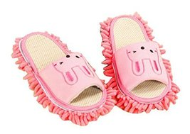 Cartoon Washable Cleaning Slippers Fuzzy Slippers Feet Length 24.5 CM -01 - $17.51