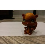 Littlest Pet Shop brown squirrel with orange hair and yellow eyes - $1.99