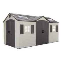 Outdoor Storage Shed 8x15ft Patio Lockable Dual Entry Yard Durable Doubl... - $2,468.08