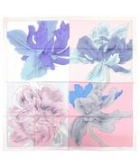 """Hermes Scarf Etude pour un Iris Arc-en-ciel 90 cm Silk Pink Carre 35"""" - $622.71"""