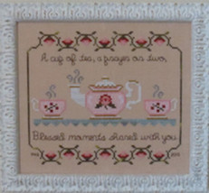 A Cup Of Tea cross stitch chart Stitches Through Time  - $9.00