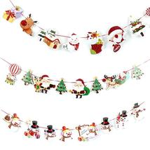 Christmas Wall Hanging Drop Ornaments Snowman/Socks/House/Santa Claus Flag Banne - $2.59+