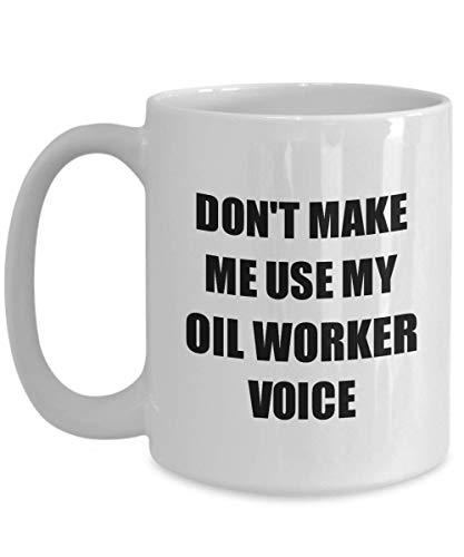 Primary image for Oil Worker Mug Coworker Gift Idea Funny Gag for Job Coffee Tea Cup 15 oz