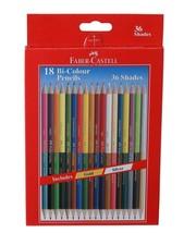 Faber Castell Dual Sided BI Color Pencils , Hexagonal Shape , Set Of 18 Pencils - $15.39