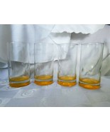 Crisa Impressions Yellow Gold Base Highball Glasses By Libbey Set Of 4 - $52.20