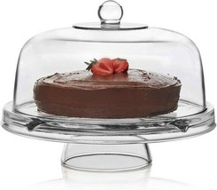 6 In 1 Multi-use Glass Server Punch Bowl, Chip & Dip Bowl, Cake Stand, Versatile - $98.63