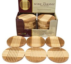 Lyle Style Picnic Time Bamboo Coasters - $11.94