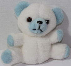 Vintage Commonwealth White And Light Blue Teddy Bear Stuffed Plush Animal Toy - $12.86