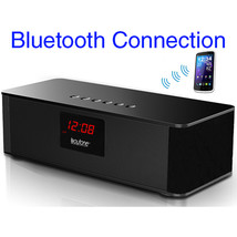 Boytone BT-87CR Portable FM Radio Alarm Clock, Wireless Bluetooth 4.1 Sp... - $40.12