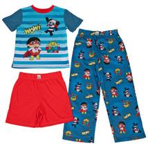 Ryan's World All Over Print 3-Piece Pajama Set Blue - $24.98