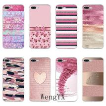 pink beauty tornado stripe heart Slim silicone TPU Soft phone case For H... - $12.89