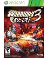 New! Warriors Orochi 3 Xbox 360 Free Shipping Action Hack n Slash - $16.82