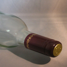 Burgundy with Gold Grapes PVC Shrink Capsules For Wine Bottles - 30 - $6.39