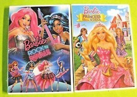 Barbi Rock N Royal & Princess Charm school Twin Pack DVD Two disc Movie New - $11.20