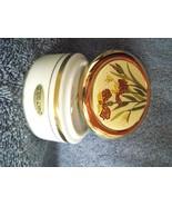 Cloisonne Round Trinket Box Lid Flowers Butterflies 24K Gold Trim Jar Japan - $19.79