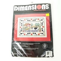Dimensions Counted Cross Stitch I Love Country Sewing Kit Farm Cow Sampler - $27.67