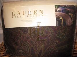 Ralph Lauren NEW BOHEMIAN Paisley Queen Burgundy purple Bedskirt - $71.20