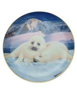 Franklin Mint Snuggle Up Seal Pup Plate by Wepplo - CP1764 - $28.03