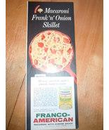 Vintage Franco American Macaroni With Cheese Sauce Print Magazine Advert... - $3.99