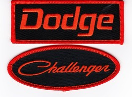 Dodge Challenger Black Orange SEW/IRON On Patch Embroidered Hemi Mopar Car - $8.50
