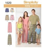 Simplicity 1520 Child's, Teens' and Adults' Pants and Shorts A (X-Small-... - $13.48
